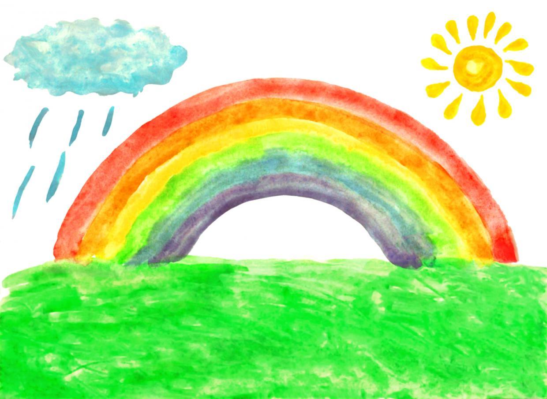 Regenbogen Bild Corona